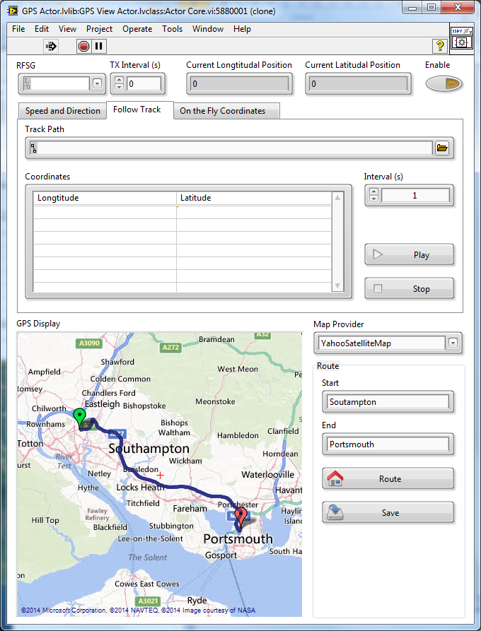 Google Maps Embedded Within LabVIEW