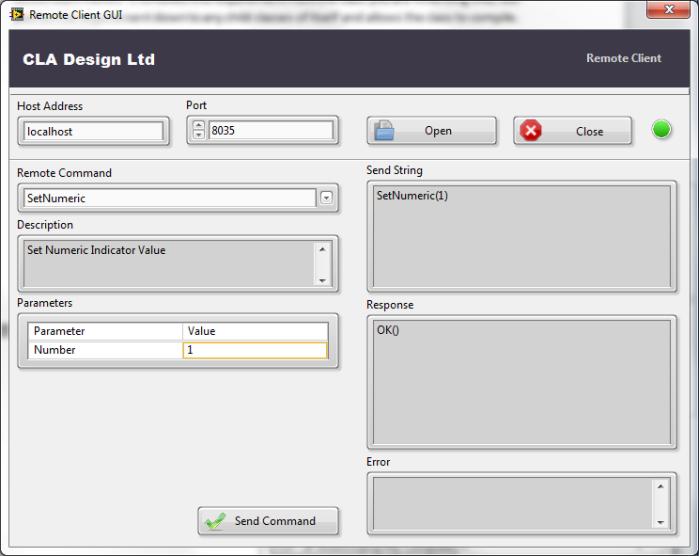Remote Client GUI