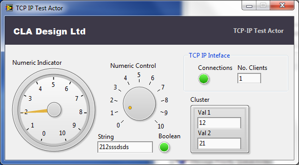 TCP Test Actor